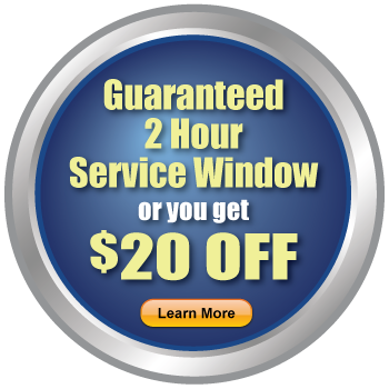 Guaranteed 2 Hour Service Window