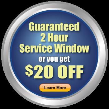 Guaranteed 2 Hour Service Window